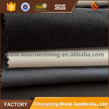 20-90gsm trousers PA/PES hot rolling nonwoven fusible lining