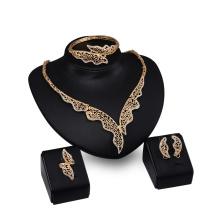 Or Plaqué Cristal Semilune Femmes Full Jewelry Sets En Gros (C-XSST0048)