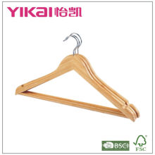 bamboo hangers with round bar and U notches
