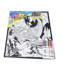 Fuzzy Poster Peeps, diy papeles de pintura hechos a mano, rompecabezas de pintura