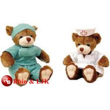 Meet EN71 and ASTM standard ICTI plush toy factory wholesale doctor bear plush toy bear