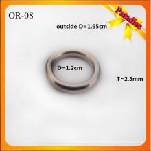 OR08 Bolso brillante de encargo de la manera del anillo de O Bolso del metal O 1.2cm para el anillo de la ropa interior