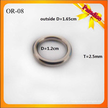 OR08 Custom Shiny O Ring Fashion Bag Metal O Buckle 1.2cm pour la bague de sous-vêtements
