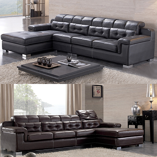 Leather 2-Piece Sectional Sofa