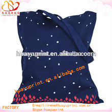 Christmas bags female cloth/Cool purplish blue canvas bag/Fashion waterproof foldable shopping bag AT-1074