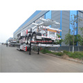 Steel frame shipping container delivery trailer