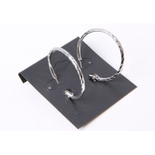 Simple Style Circle Earrings with Rhodium Plated