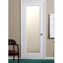Interior Glass Shaker Door, White Wooden Door