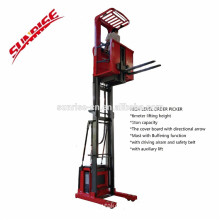 Good Price warehouse 6m lifting height Full Electric Aerial Order Picker