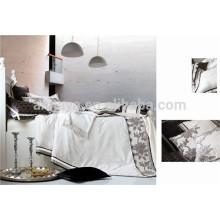 Luxury Jacquard Oriental Duvet Cover Bedding conjunto com Zipper Made in China