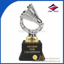 Изготовленный на заказ металл бадминтон фэнтези сувенир трофей дизайн