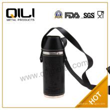 frasco de botella de licor de 10 oz acero inoxidable especial agua mini con taza y bolsa