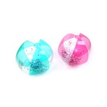 Summer Inflatable PVC Colorful Glitter Beach Ball
