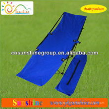 2015 venta caliente cama de playa plegable con 210D bolsa de transporte