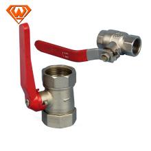 высокое качество латунный шаровой клапан соединение