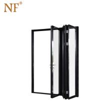 Transparent doha industrial steel  folding door
