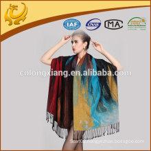 Large Siez New Design Painting Silk Brushed Shawl