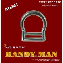AD241 Forjado Durable alumínio único Slot D-ring