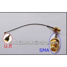 PCI U.FL a SMA hembra antena WiFi cable de conexión IPX a SMA