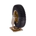 Roue à roulettes pneumatique pivotante en caoutchouc de 8 pouces