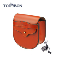 Top Grain Genuine Leather fishing box tackle case/Fly Fishing Reel Case /