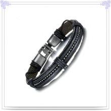 Кожаный ювелирный браслет из бижутерии (LB379)