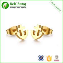 Boucle d'oreille en acier inoxydable d'ancrage boucle d'oreille Stud ancre bijoux