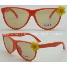 Plastic Decoration Fashionable Kids Sunglasses (KS143)