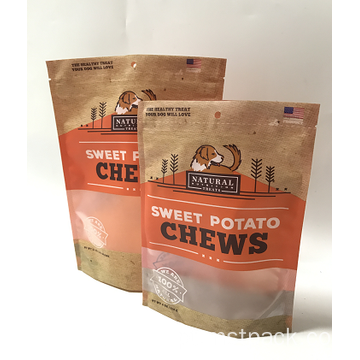 Plastic Stand Up Matt Coating Chips Packaging Bag