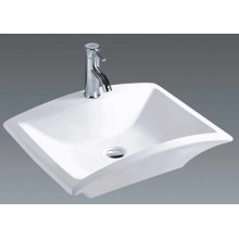 China Cuarto de baño de cerámica retangular sobre encimera (7096)