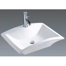 China Casa de banho cerâmica retangular bancada bacia (7096)