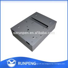 CNC que perfora cajas electrónicas de la caja de aluminio