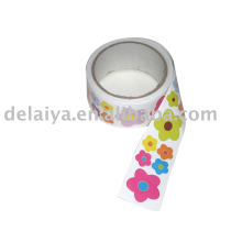 Flower-shaped roll sticker