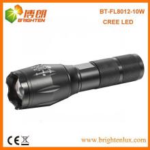 China Factory Supply Günstige leistungsstarke Aluminium Jagd 10w führte die meisten leistungsstarke LED wiederaufladbare Taschenlampe