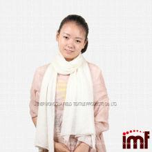 Чистый Кашемир сплошной цвет с белым платок Шарфы для девочки (красный / зеленый / синий)