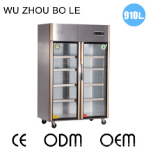 Double Doors Stainless Steel Kitchen Refrigerator