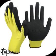 SRSAFETY 13g nylon shell sandy finish nitrile coated working glove