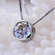 Brilhante Round Atificial Diamante Jóias Colar Moda