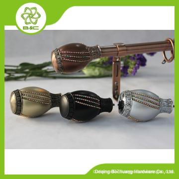 High quality cheap custom pewter decorative ball curtain finials