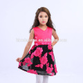 2017 Trending Products Boutique Colorful Flower V Neck Kids Frocks Designs For 6 Years Old Girl With Best Price