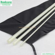 7FT6in 4wt Clear White Glasfaser Fliegenruten Leer