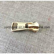 Slider de cremallera de metal dorado para bolsos de lujo