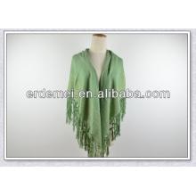 plain viscose scarf shawl with gold silk