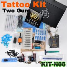 Neue heiße Verkauf professionelle Tattoo Maschine Kit mit 2 Pistolen