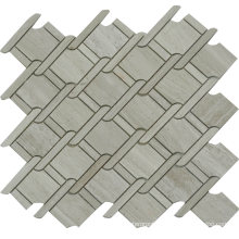 Special Design 315X315mm Weave Shaped Marble Mosaic Tile Price