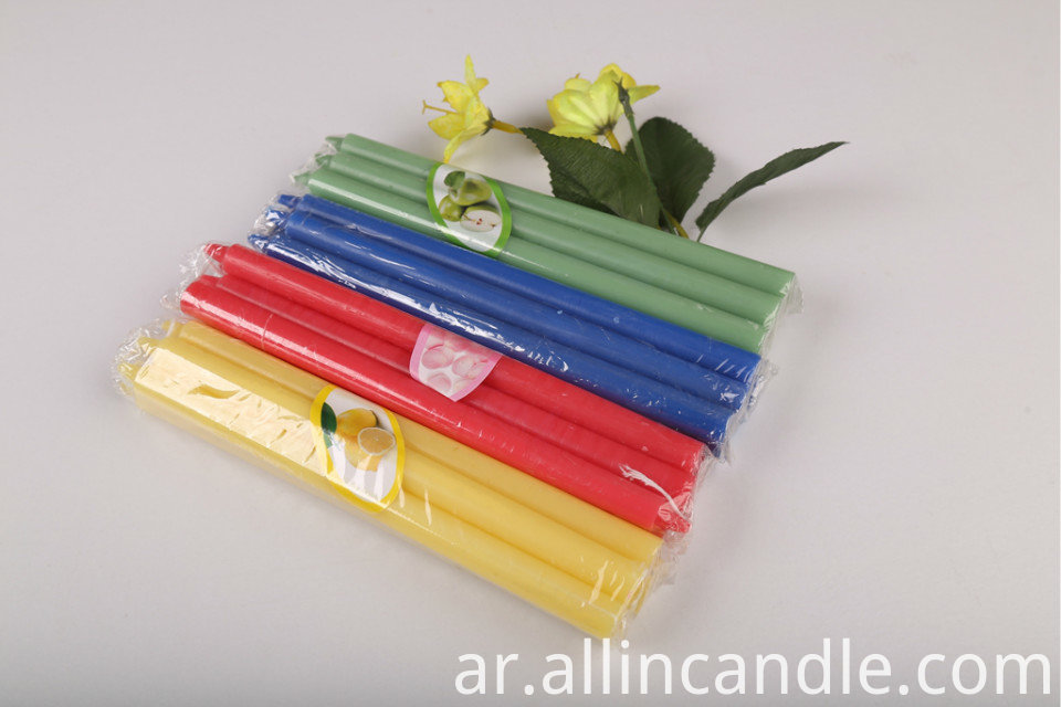 Colorful Taper Candle