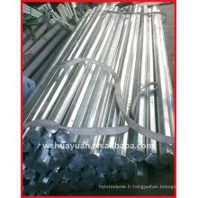 Poteau électrique octogonale en acier galvanisé