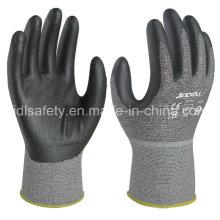 Вырезать устойчивость работы перчатку с вспененного нитрила покрытием (K8085-18)
