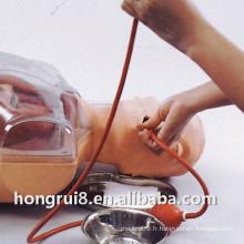 Simulateur de soins respiratoires multifonctionnels transparents de lavage gastrique
