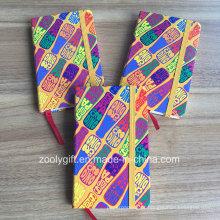 Logo Printing Paper Cover A6 Agenda Notebook com Fita Elástica